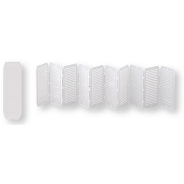 10 cales universelles 20x50x1,3 blanc